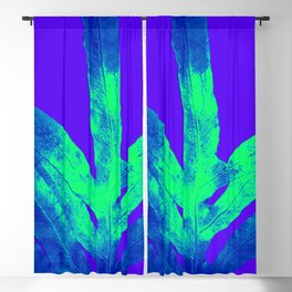 Blue Ultraviolet Green Earth Day Fern Blackout Curtain