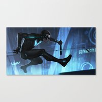 nightwing Canvas Prints featuring Nightwing Beyond by Yvan Quinet