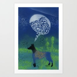 Dog Speaks Art Print