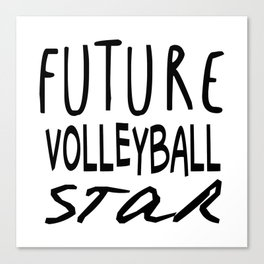 Future Volleyball Star Canvas Print