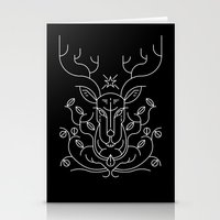 reindeer Stationery Cards featuring Reindeer by Marco Recuero