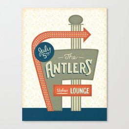 The Antlers Gig Poster Canvas Print