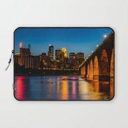 Stone Arch Bridge Illuminated Laptop Sleeve