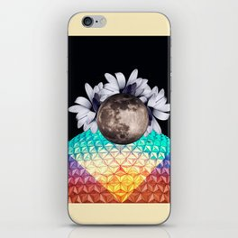 Beyond the moon and back iPhone Skin