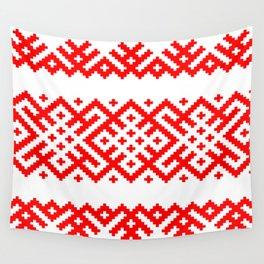 Pattern - Bogoroditsa - Slavic symbol Wall Tapestry