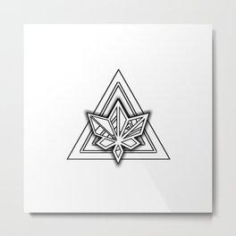 Hidden Leaf Metal Print