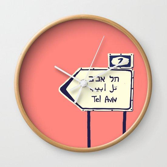 Tel Aviv This way Wall Clock