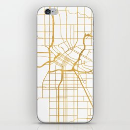MINNEAPOLIS MINNESOTA CITY STREET MAP ART iPhone Skin