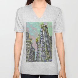 Lloyd's of London Building  Unisex V-Neck