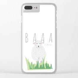 BAAA Humbug Sheep Clear iPhone Case