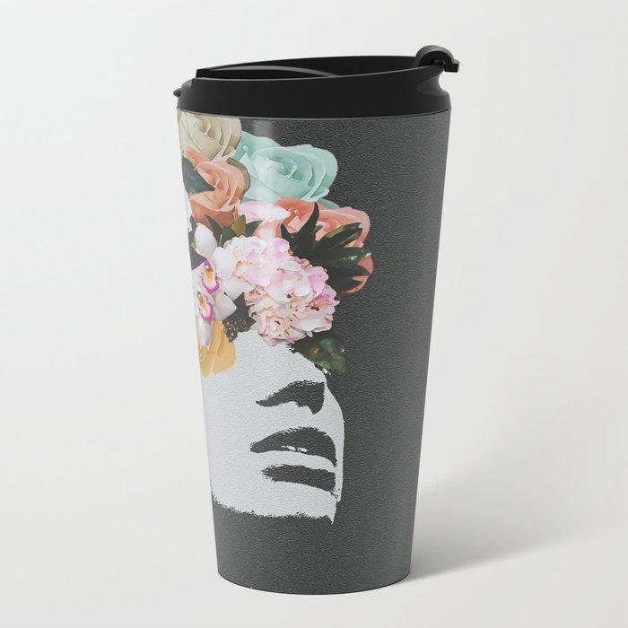 Flowers on the Mind Metal Travel Mug