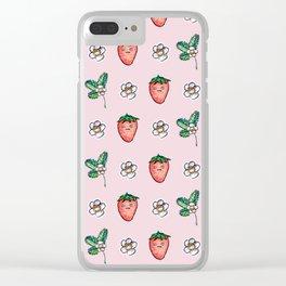 Grumpy Strawberry Clear iPhone Case