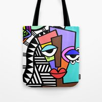 artsy Tote Bags featuring Artsy by Andrea Silvestri