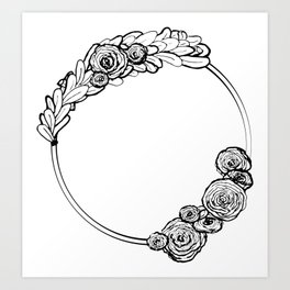 Modern Wreath Art Print