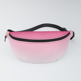 Modern bright simple neon pink white color ombre gradient Fanny Pack