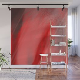 Living Coral Abstract Trendy Watercolor Pattern Wall Mural
