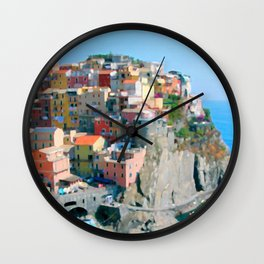 Italy. Cinque Terre - Cliffside Wall Clock