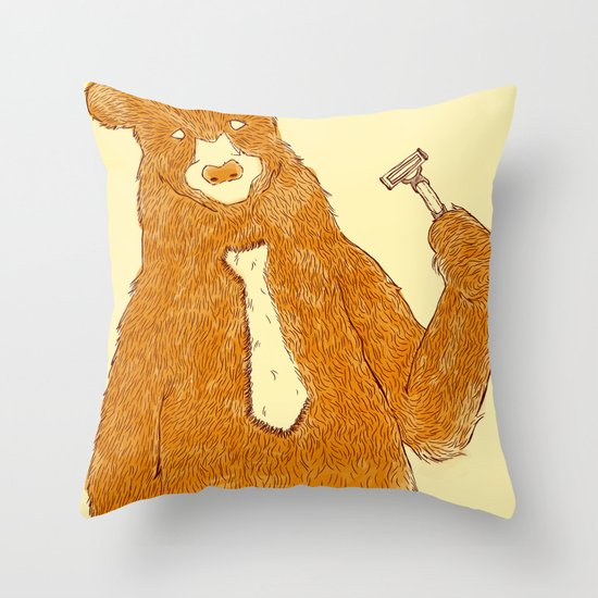 Office Bear Throw Pillow