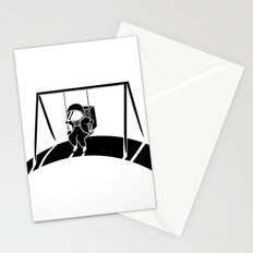 In Space No One Will Push Your Swing Stationery Cards