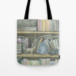 RHX Bookshelf Logo Tote Bag