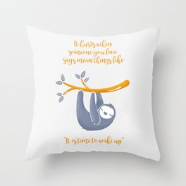 Sleeping is the best thing! Throw Pillow