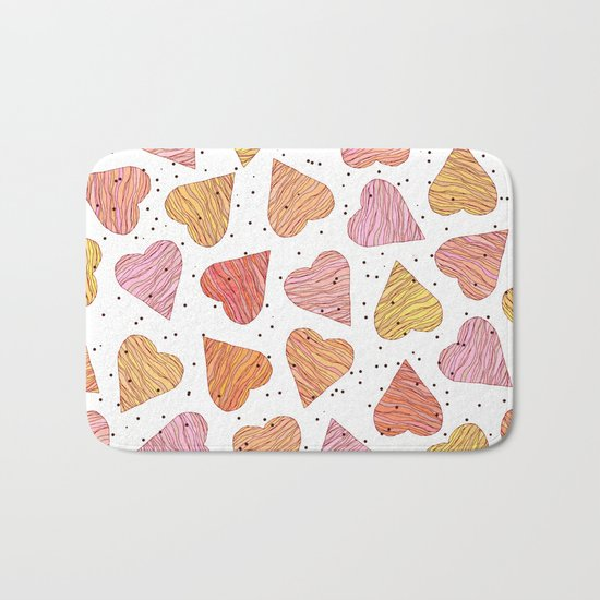 Love, hearts, cookies! Bath Mat