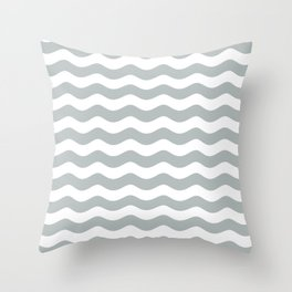WAVES DESIGN (SILVER-WHITE) Throw Pillow