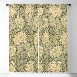 Chrysanthemum by William Morris 1877 Antique Vintage Pattern CC0 Spring Summer Blackout Curtain