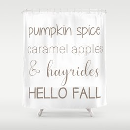 Words of Fall Shower Curtain