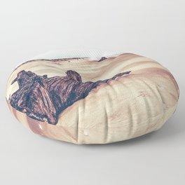 Ocean Driftwood Floor Pillow