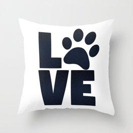 Love Pets Paw Cat Dog Cute Throw Pillow