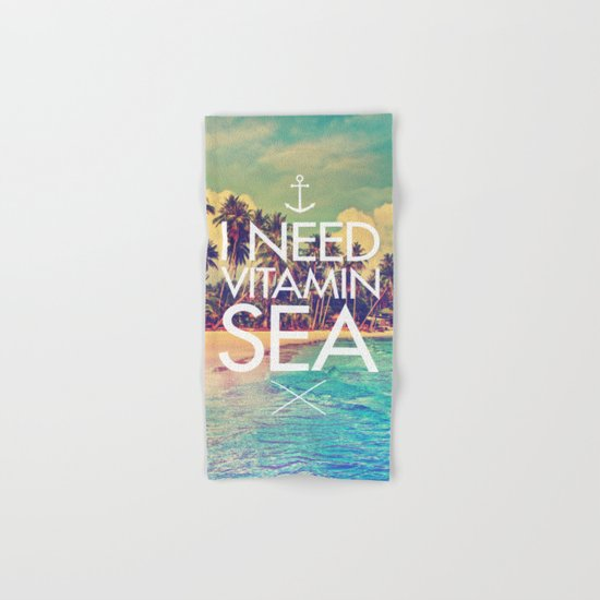 I Need Vitamin Sea Hand & Bath Towel