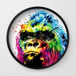 Rainbow Gorilla Wall Clock
