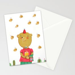 Honey Bear, Busy Bees Stationery Cards