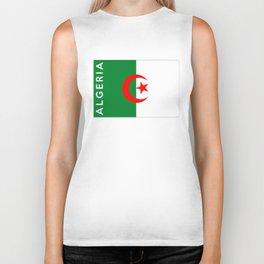 algeria country flag name text Biker Tank