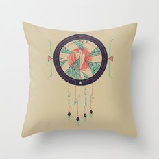 Digital Catcher Throw Pillow