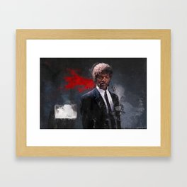 Jules Winnfield Witnesses A Miracle - Pulp Fiction Framed Art Print