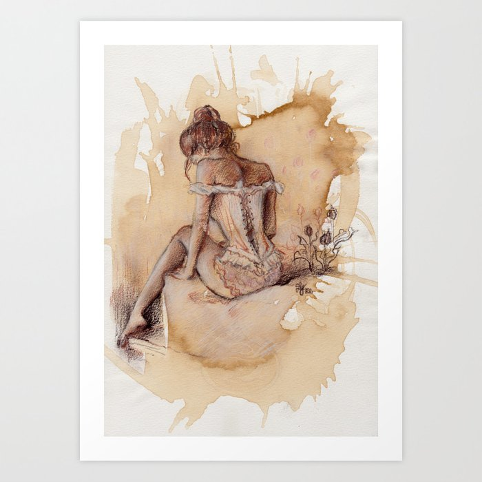 'Decolletage' Art Print