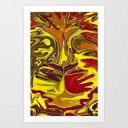 Liquified Lion Art Print