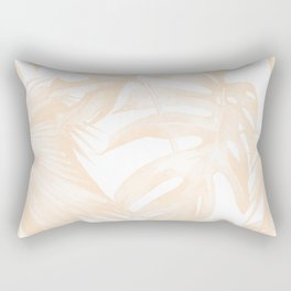 Island Vacation Hibiscus Palm Light Mango Rectangular Pillow