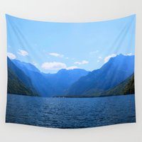 switzerland Wall Tapestries featuring Koenigssee Lake with Alpes 2 by UtArt