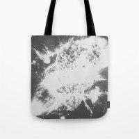 big bang Tote Bags featuring Big Bang by Jonasethomsen