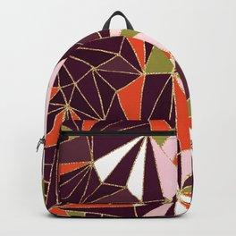 New Art Deco Geometric Pattern - Burgundi and Pink #deco #buyart Backpack