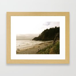 Indian Beach Framed Art Print