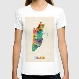 Belize Watercolor Map T-shirt