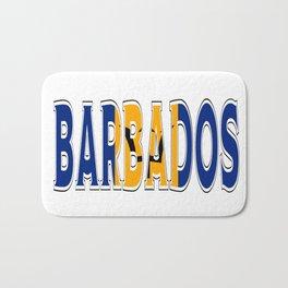 Barbados Font with Barbadian Flag Bath Mat