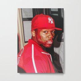 50 Cent Metal Print