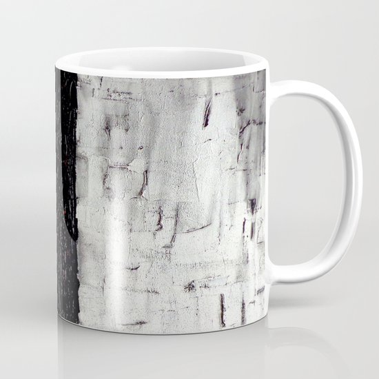 Dark Path - Black and white abstract Mug