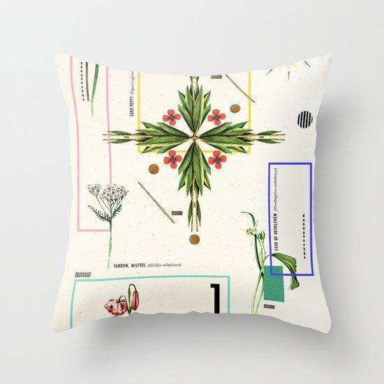 Wild Flowers_1 Throw Pillow
