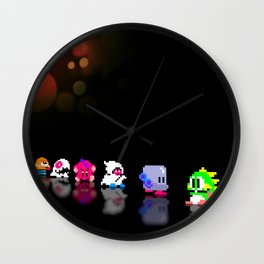 Bubble Bobble - Pixel art Wall Clock